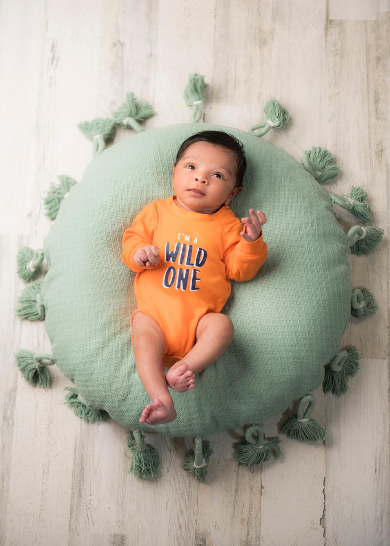 Professional portrait of baby boy
