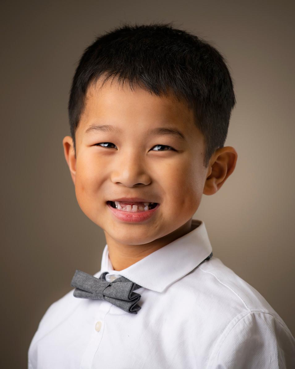 Professional portrait of a little boy