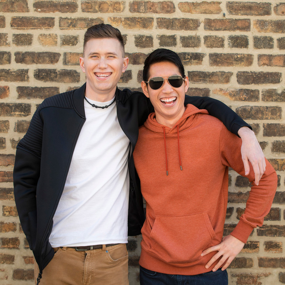 Outdoor Professional Portrait of two young male friends