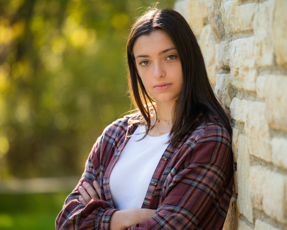 Outdoor Professional Portrait of a teenage girl