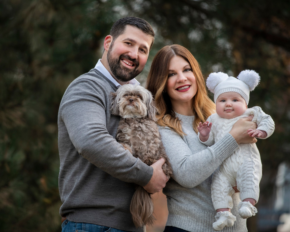 Professional outdoor family portrait