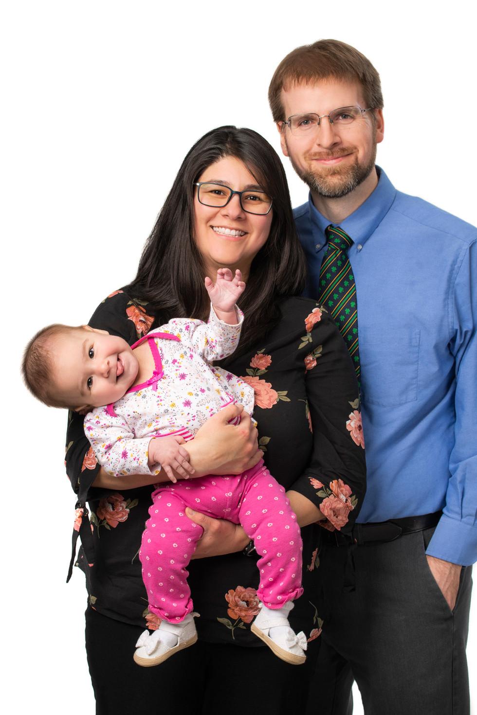 Professional studio family portraits