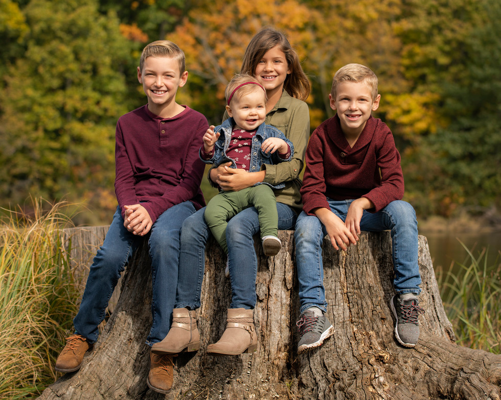 Professional outdoor portrait of siblings