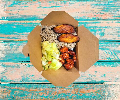 Jamin Vegan Sweet & Sour BBQ Chicken Box