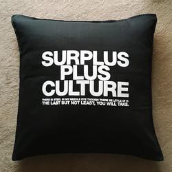SURPLUS PLUS CULTURE cushion