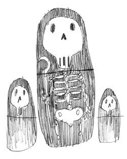 Study Drawing「Matryoshka Dolls」