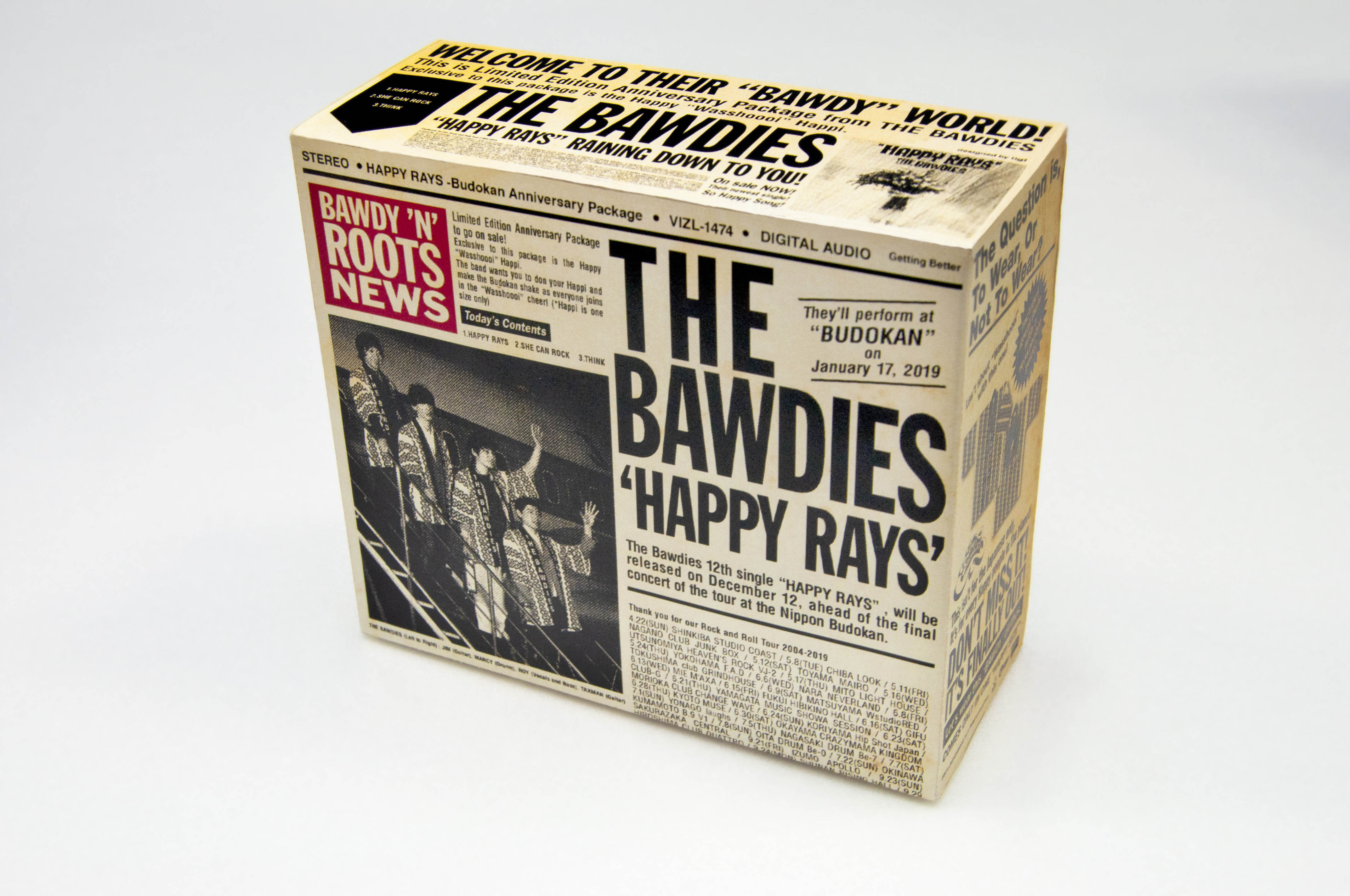 THE BAWDIES「HAPPY RAYS」生産限定盤