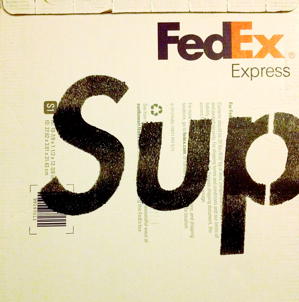Sup on Fedex Box
