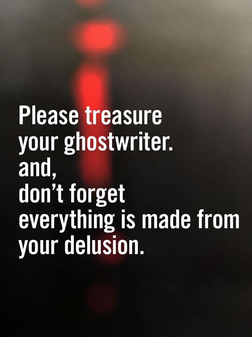 Ghostwriter strikes back.