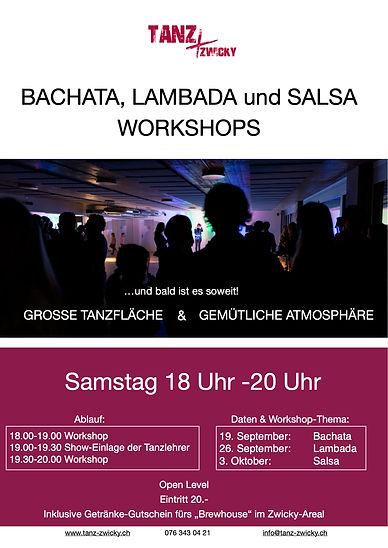 Bachata Lambada Salsa Workshops Sept Okt