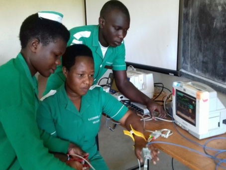 User Training for Student Midwives and Nurses at Fortportal International Nursing School, Uganda