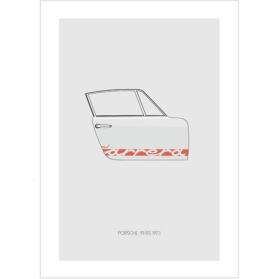 Porsche 911 RS Postcard