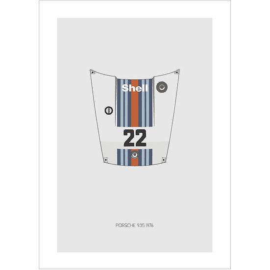 Porsche 935 Postcard