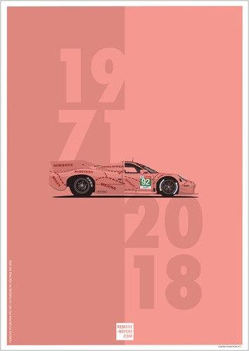 Porsche Pink Pig Poster Edition #1