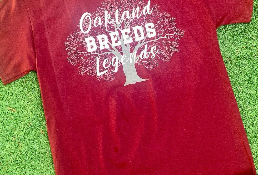 Maroon Oakland Breed Legends Shirt