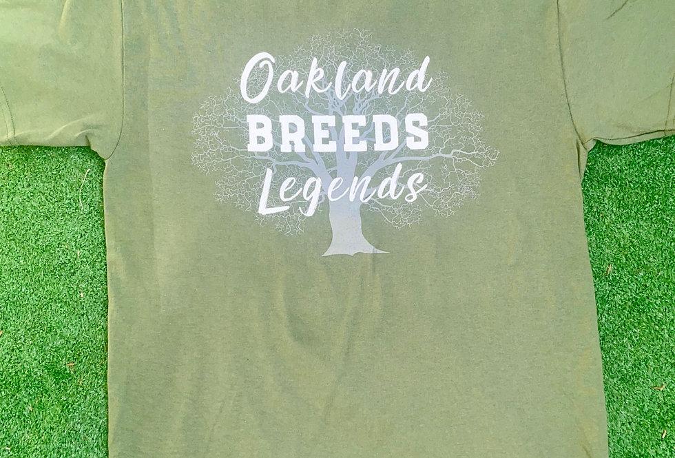Olive Green Oakland Breeds Legends Shirt