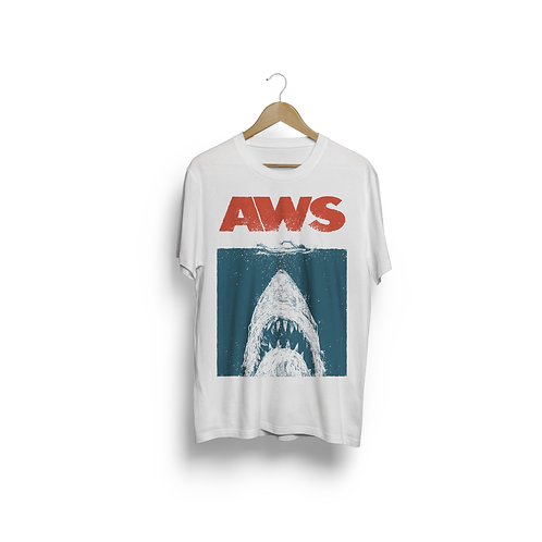 """(J)AWS"" WHITE T-SHIRT"