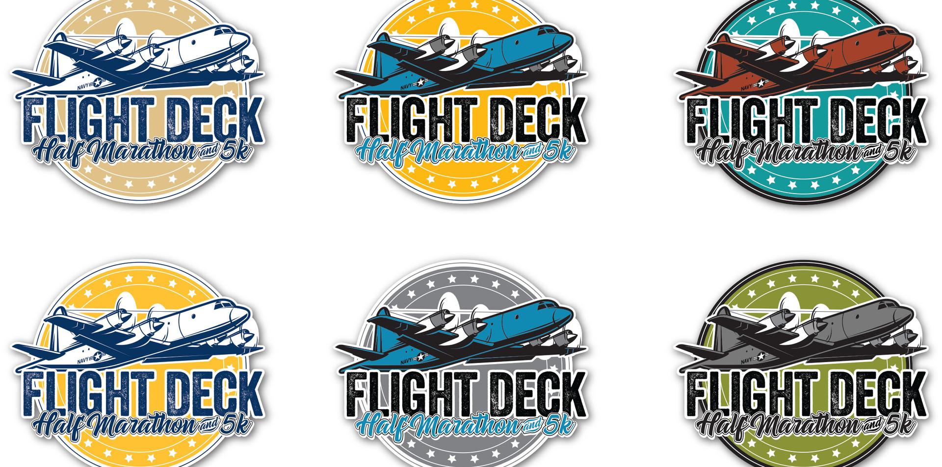 Flight Deck Half Marathon and 5K layout