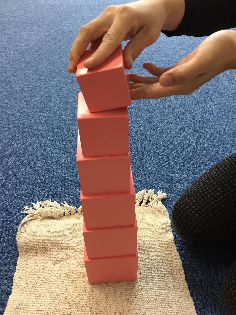 ピンクタワーの置き方、おろし方
