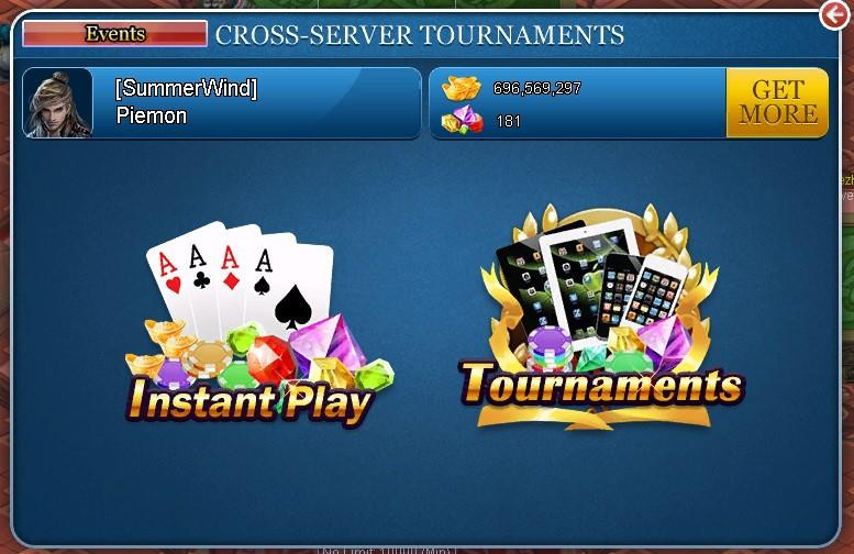 Cross-server Texas Hold'em