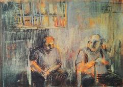 Old men at Mahane Yehuda, 2012
