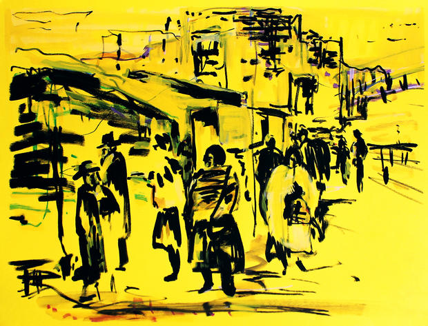 Jerusalem in yellow, 2016