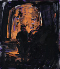Hookah smokers in black, 2014