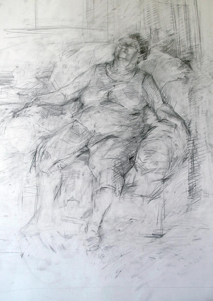 On arm chair, 2010