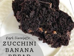 Dark Chocolate Zucchini Banana Bread