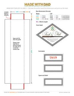 Wand box – labels
