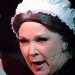 Linda Keys as Mrs Sowerberry