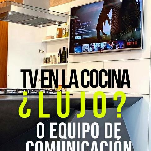 TV en la cocina, ¿Iujo? o ¿parte de la comunicación?