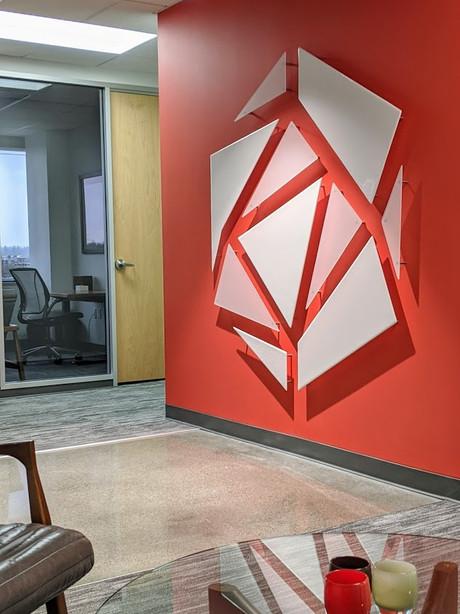 Custom Glass Wall Sign