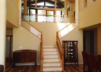 Handmade Glass Stair Panels