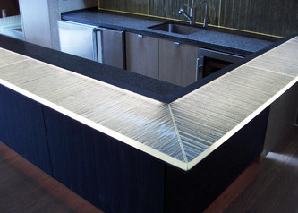 Backlit Glass Kitchen Counters