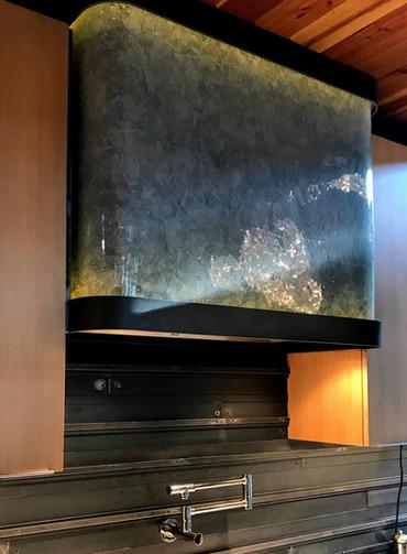 Bent Glass Stove Hood Vent