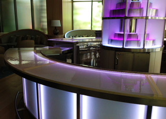 Hotel Lounge Glass Bar