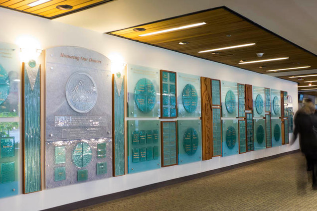 Glass Donor Wall