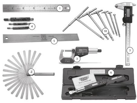 Tools and Test Equipment recommended for ex repair work.