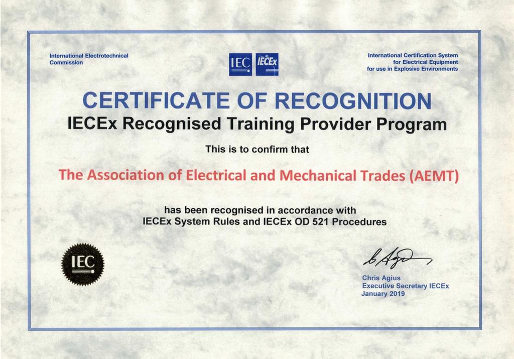 Iec certificate electrical