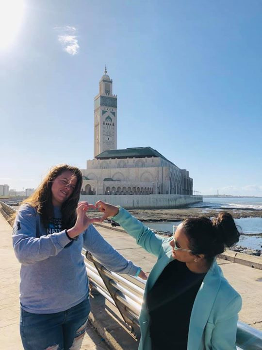 Friends at the Mosque in Casablanca