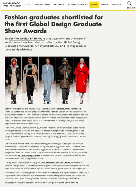 Global design graduate show