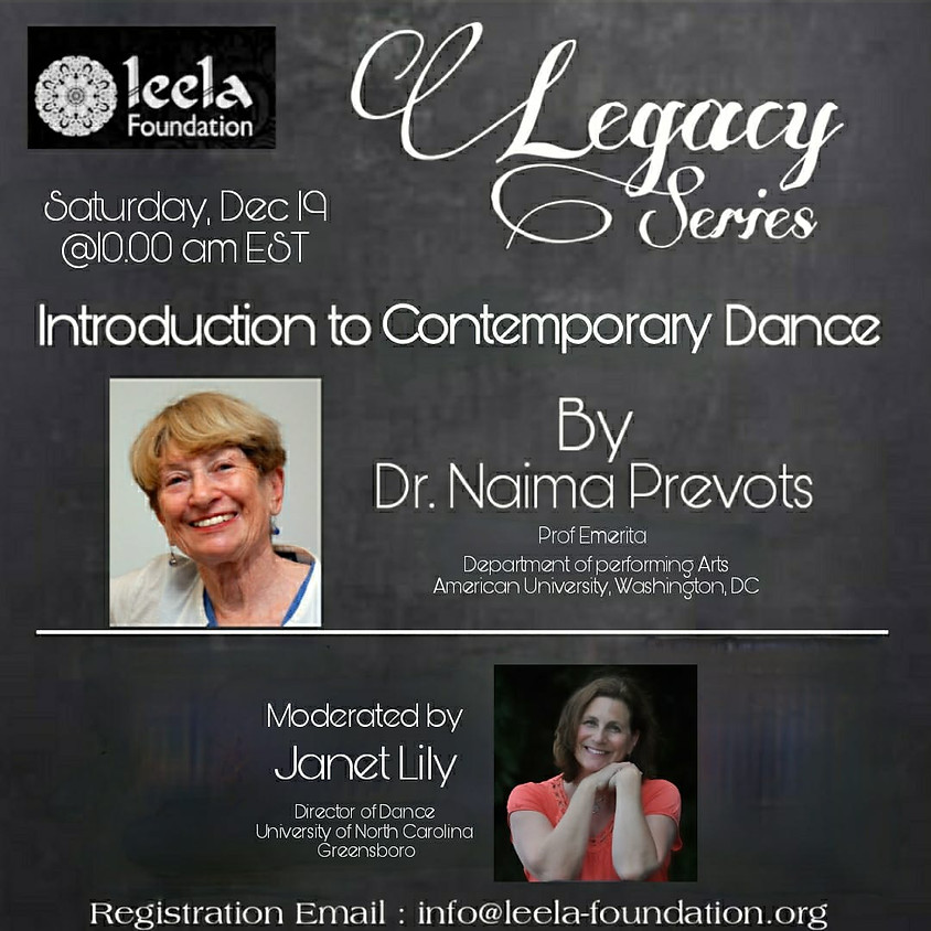The Legacy Series: An Introduction to Contemporary Dance