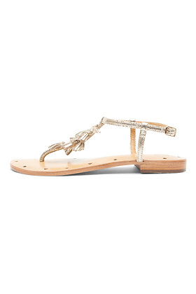 METALLIC TASSLED SANDALS