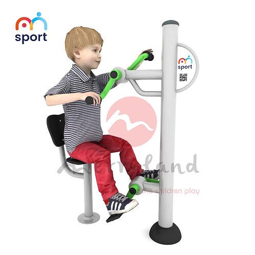 Thiết bị Gyms đạp xe kết hợp xoay tay