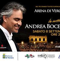 Andrea Bocelli 8 Settembe Arena di Verona