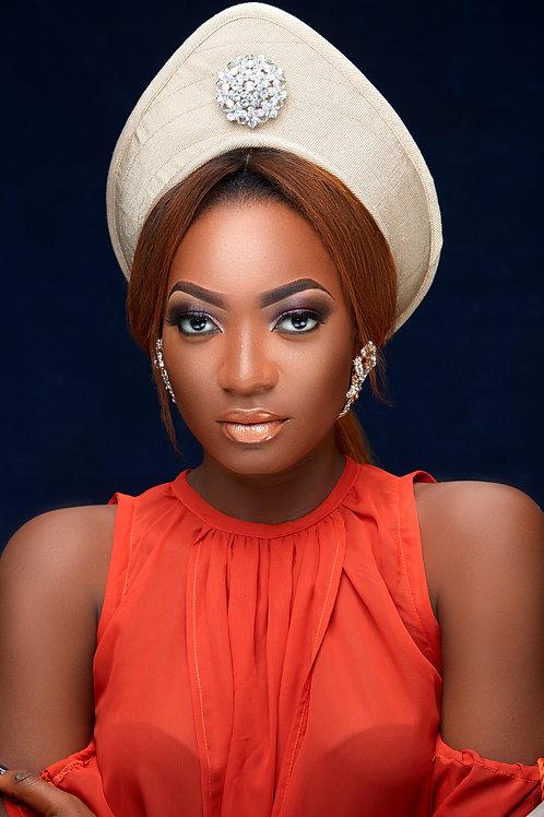 Diana Aso Oke Crown