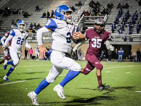 Amezquita Leads the Mustangs to Trample the Rams, 48-24