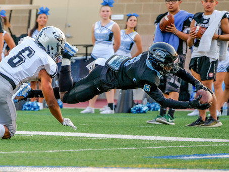 United South Panthers fall in San Antonio to the Harlan Hawks, 28-14