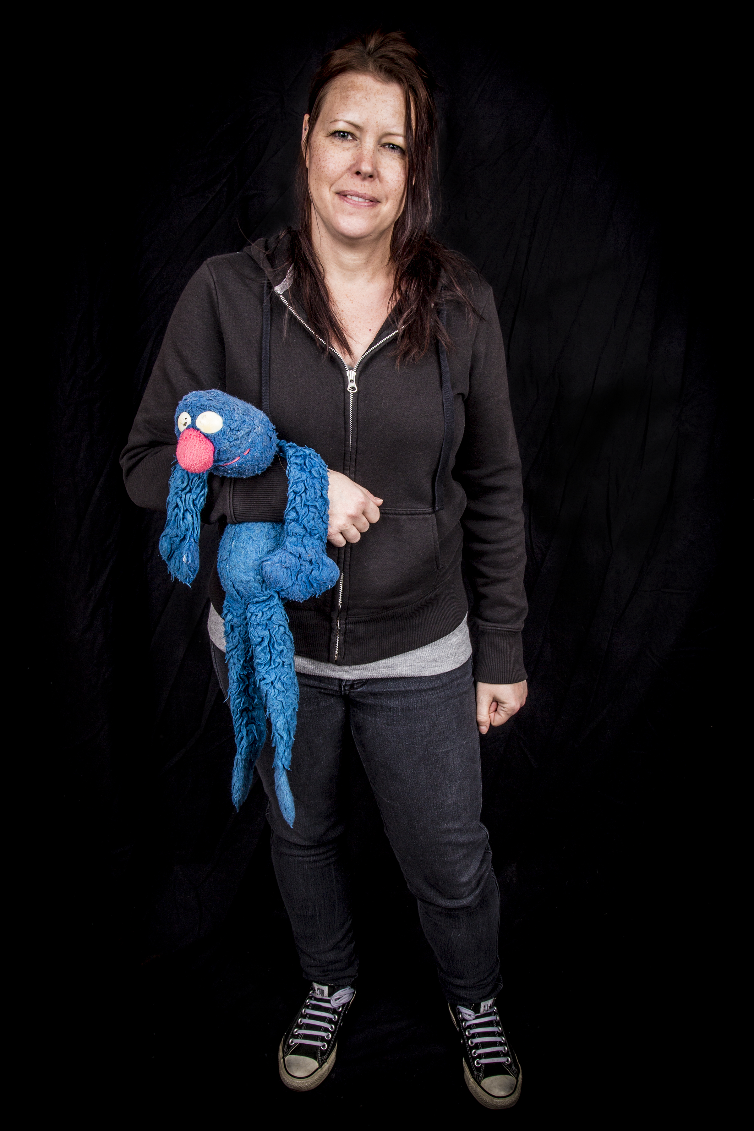 Christina with Grover